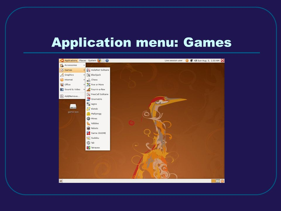 Explore GNOME The easy way, using a live CD By Carl Weisheit  - ppt