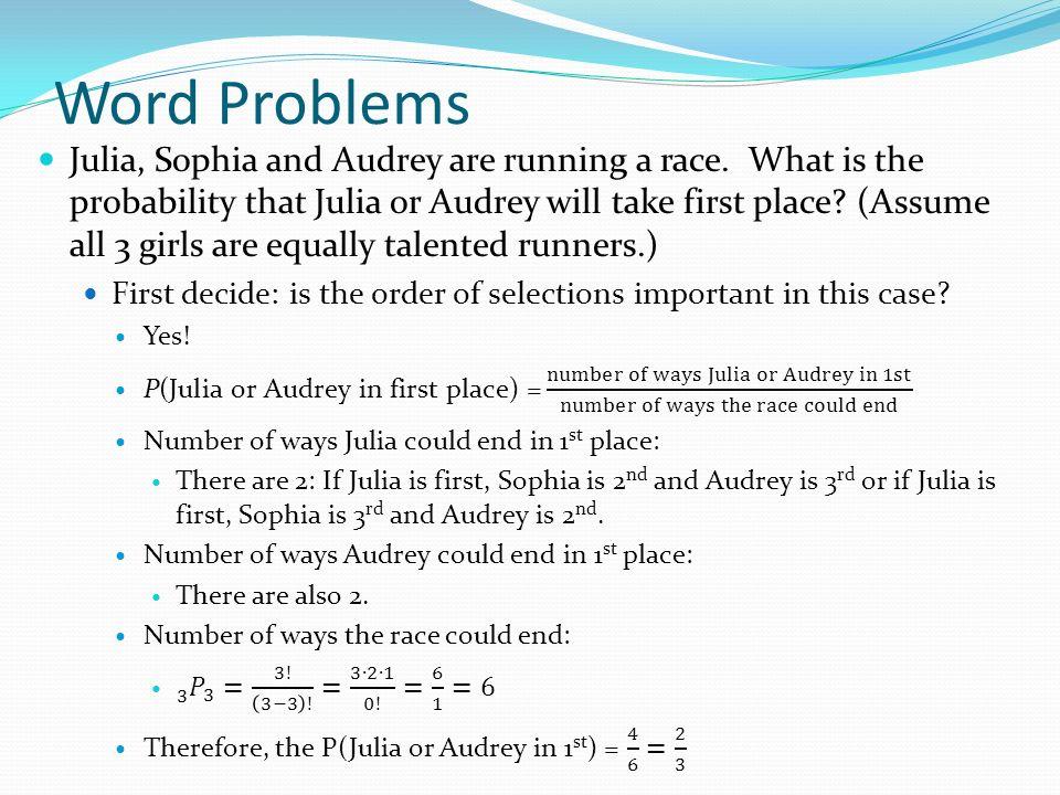 Homework: Permutations Word Problems worksheet  Homework