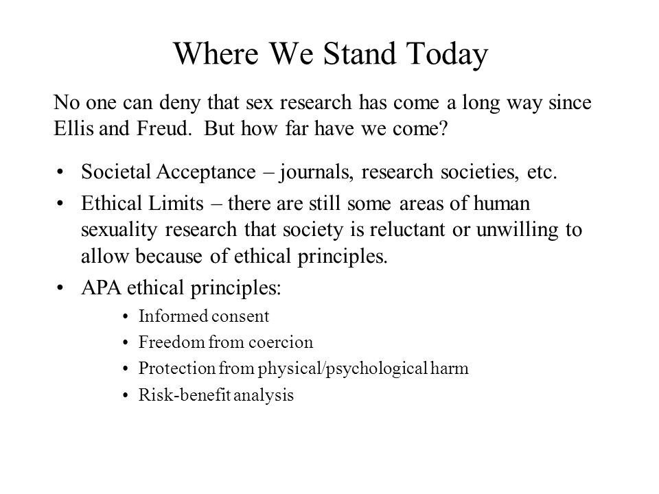 Human sexuality psychological principles