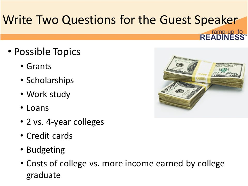 Guest Speaker: You Can Pay for College Middle School