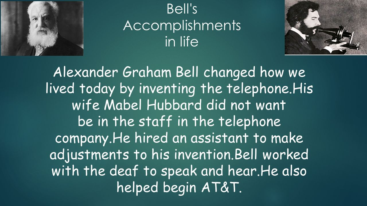 an introduction to the life of alexander graham bell an inventor Alexander graham bell (march 3, 1847 - august 2, 1922) was a scottish-born scientist, inventor, engineer, and innovator who is credited with inventing and patenting the first practical telephone.