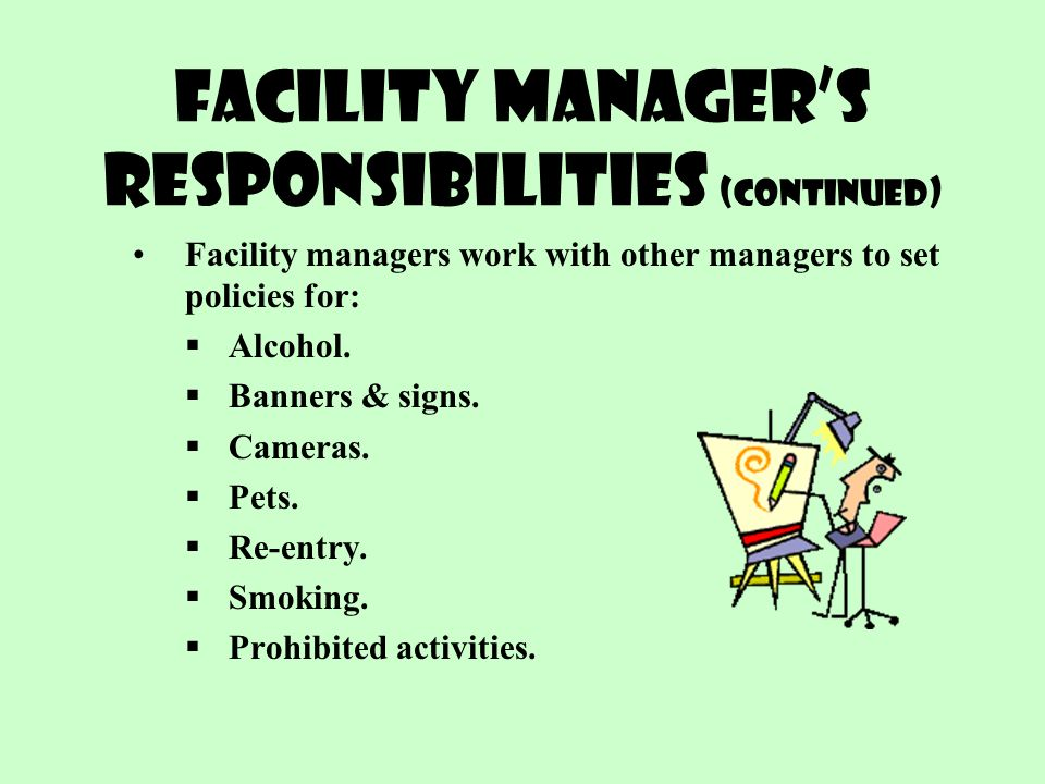 Facilities Manager Roles Responsibilities