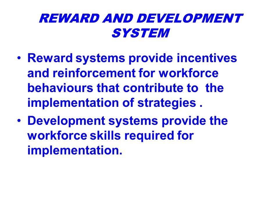 STRATEGY IMPLEMENTATION - REWARD & DEVELOPMENT SYSTEMS