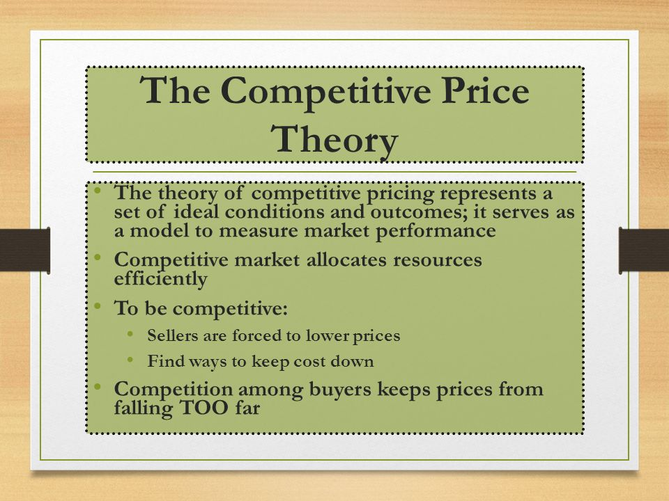 why do competitive markets allocate resources efficiently