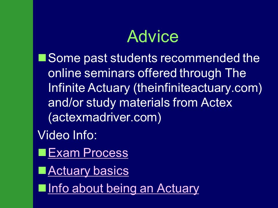 Brought to You By: About an Actuarial Career Be An Actuary A Career