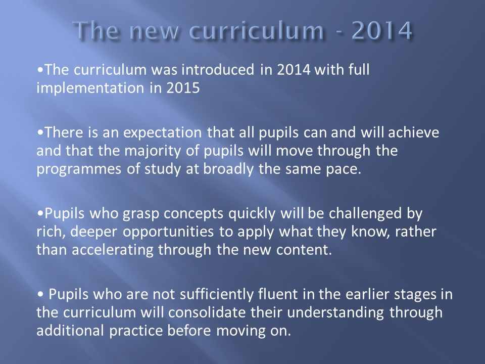 The New Curriculum And Assessment Without Levels At Halton School