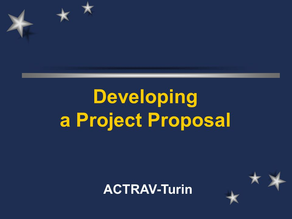 developing a project proposal on a Guidelines the proposal should contain information on the following 1 the project project objectives description of project objectives with particular reference to: physical output, number of person to be.