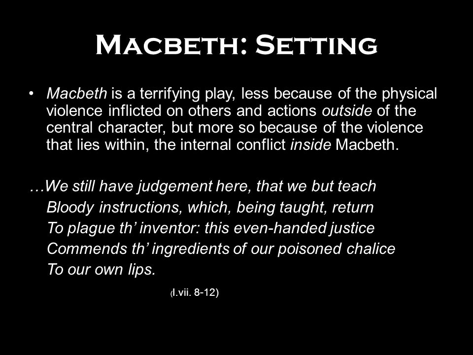 setting of the play macbeth