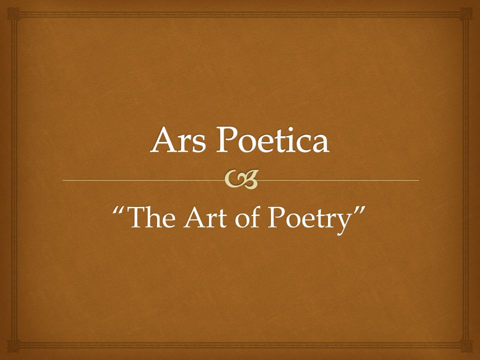 poetica meaning