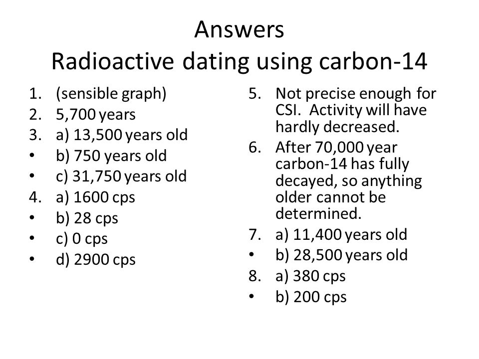 notes on carbon dating