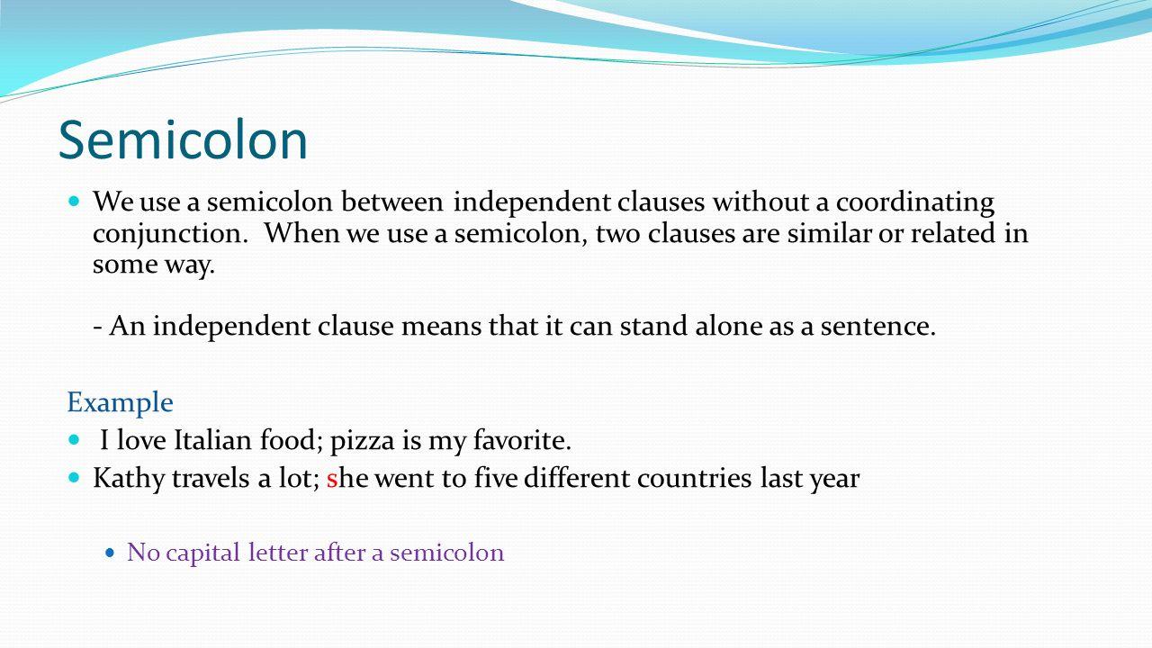 16 semicolon
