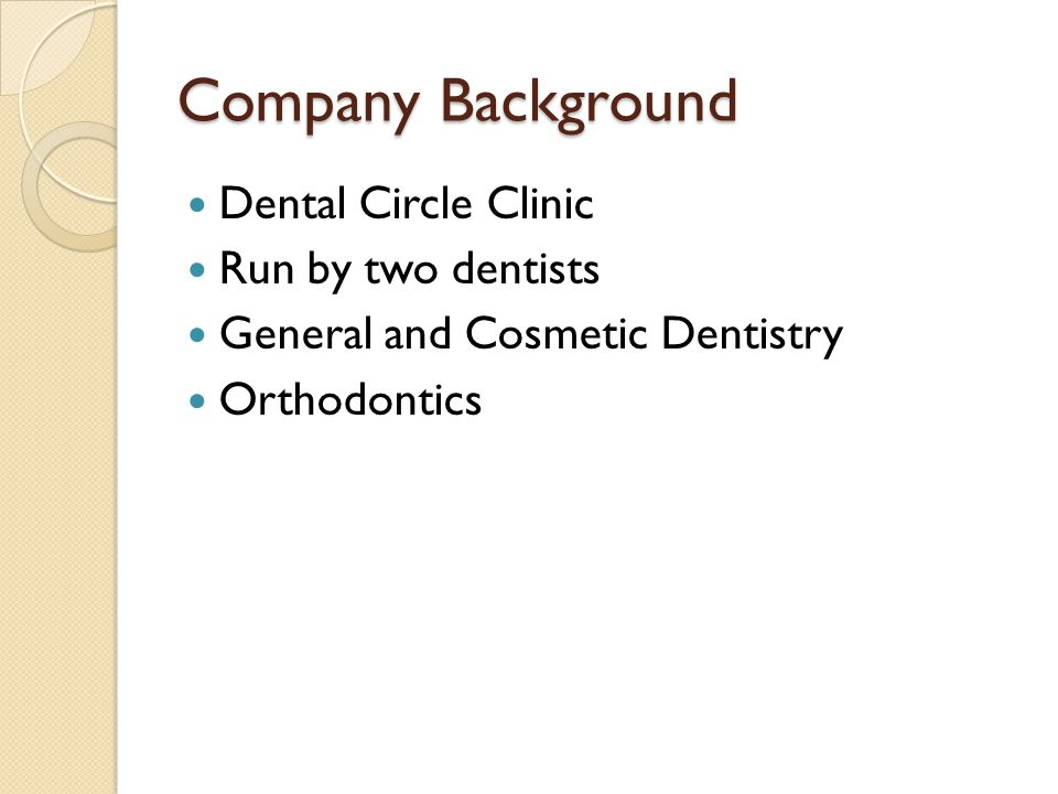 Dental Clinic Database System Project Proposal Chavez, Melesan Karen