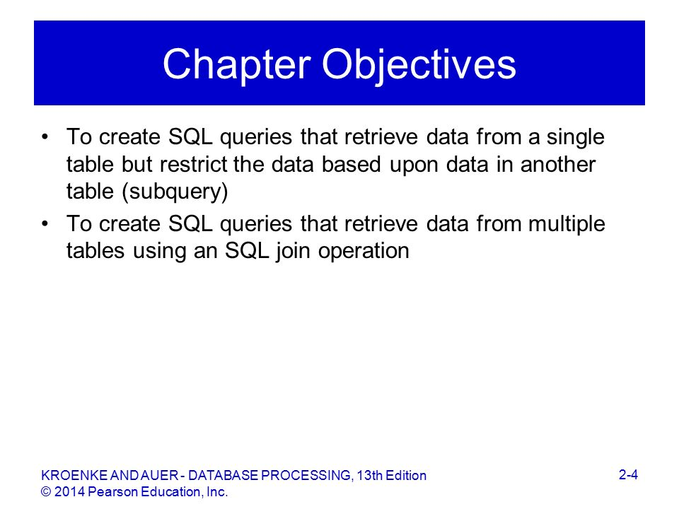 David M  Kroenke and David J  Auer Database Processing: Fundamentals
