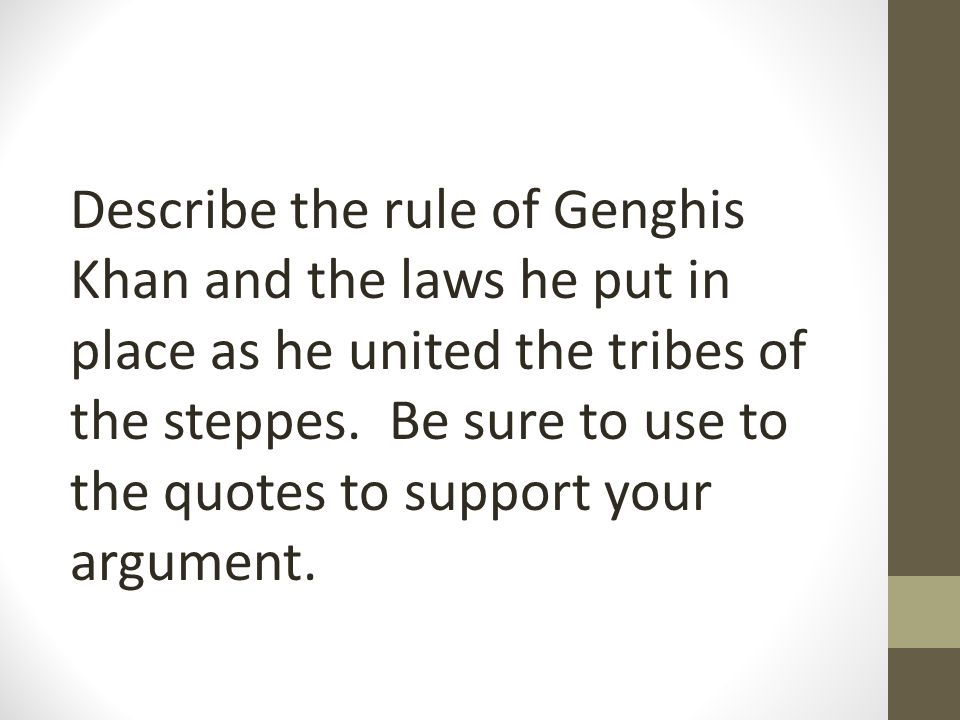Genghis Khan Qoutes Quote 1 I Will Rule Them By Fixed Laws