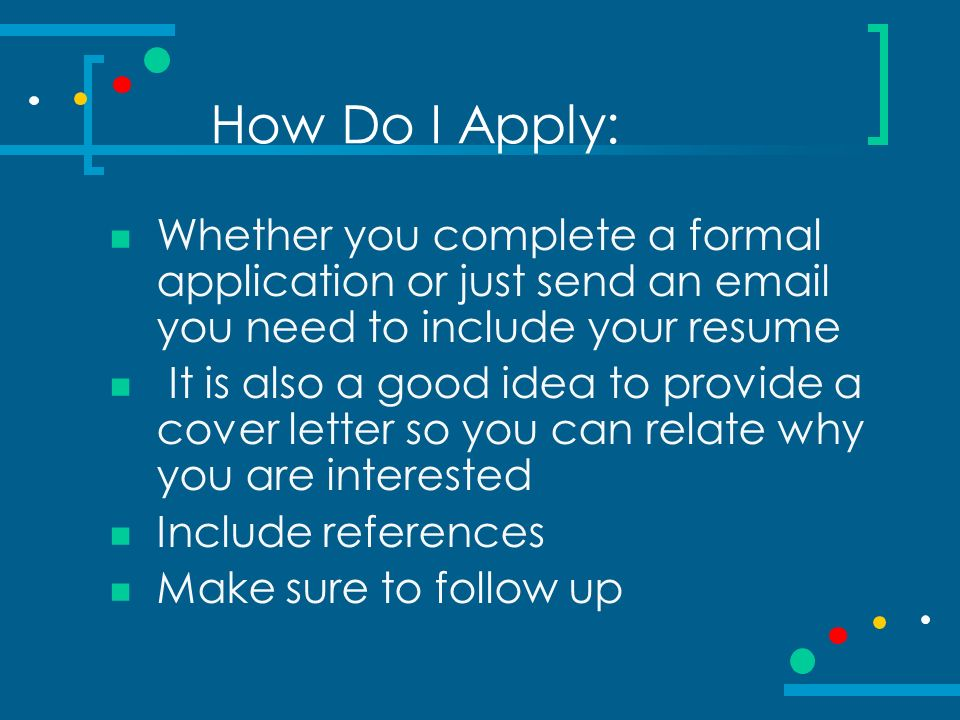 Finding your dream internship. What is an internship? Career related ...