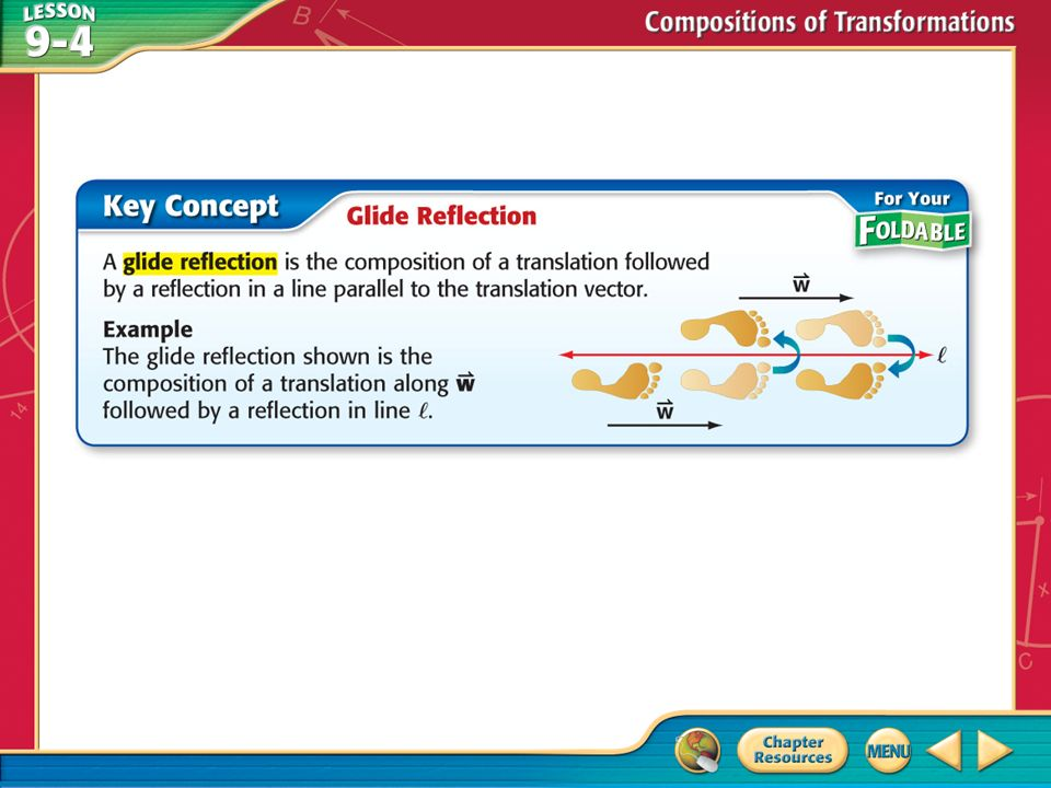 Concept Example 1 Graph A Glide Reflection Quadrilateral
