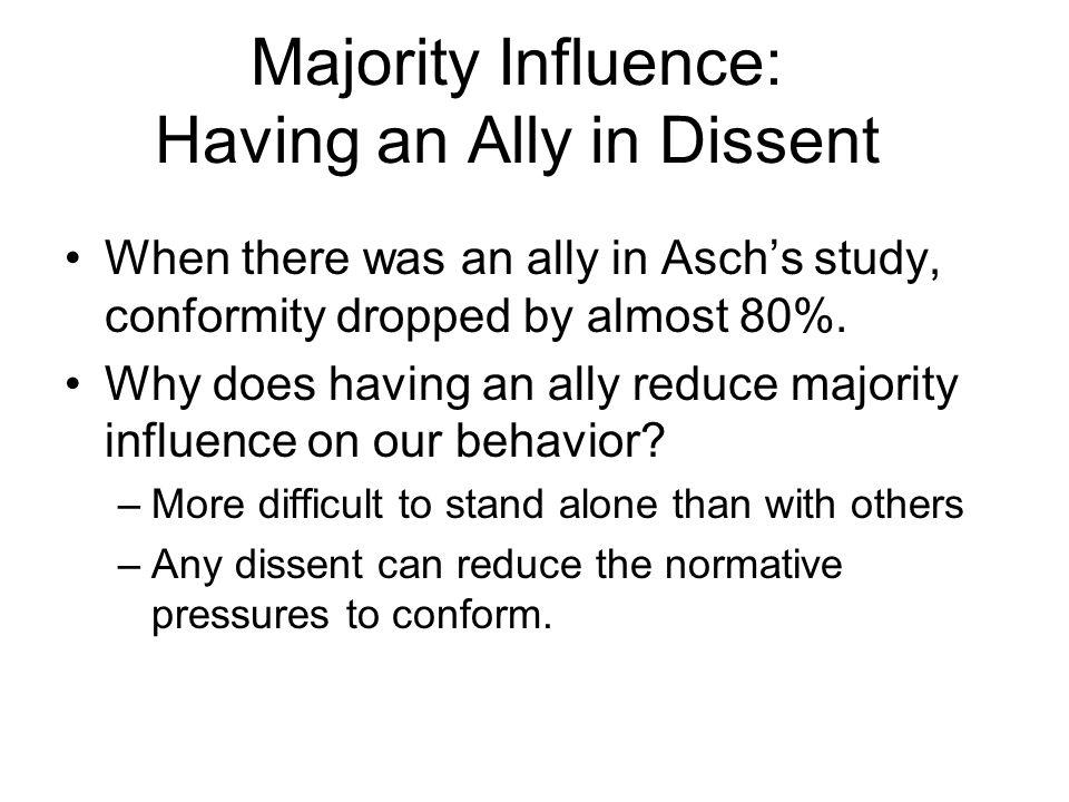 in aschs study conformity decreased when