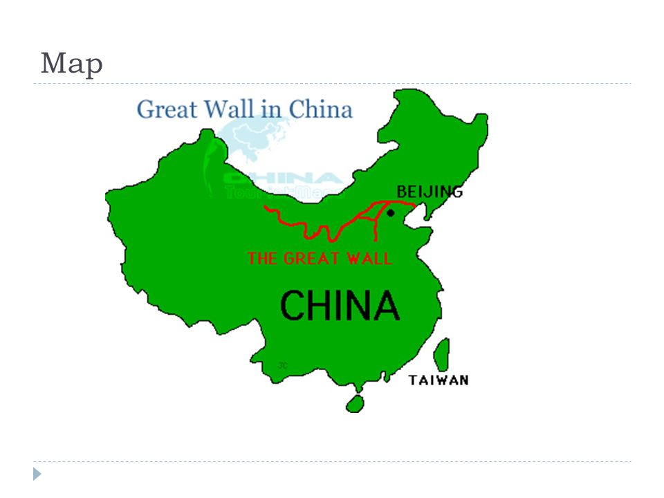 The Great Wall Of China C Mitchell Map The Great Wall Of China