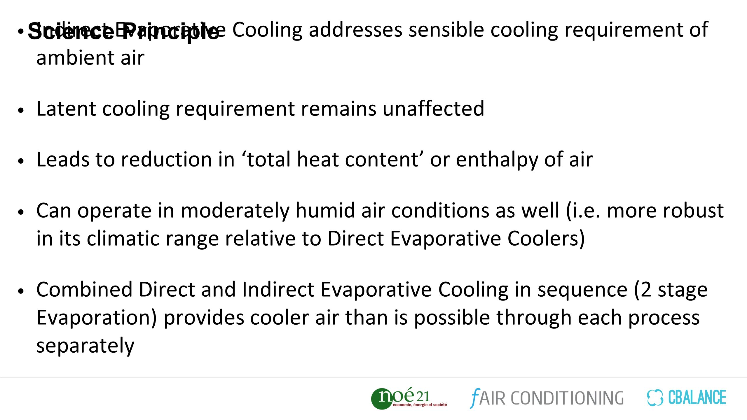 Indirect Evaporative Cooling Addresses Sensible Requirement Of Ambient Air Latent Remains Unaffected Leads