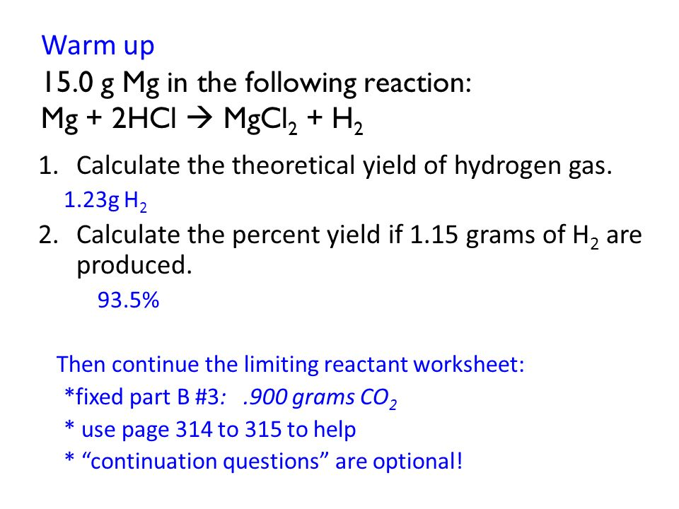 The Recipe Of Chemistry Stoichiometry Ch 9 2 Analogy Suppose You. Calculate The Theoretical Yield Of Hydrogen Gas. Worksheet. Stoichiometry Percent Yield Worksheet At Mspartners.co