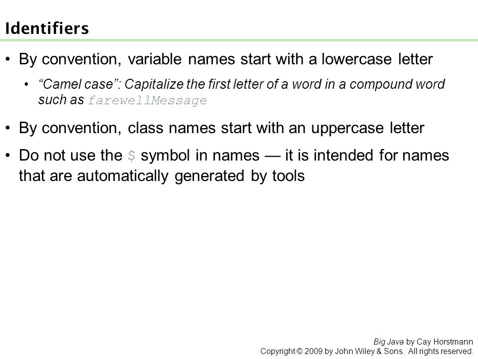 Chapter 2 An Introduction To Objects And Classes Big Java By Cay