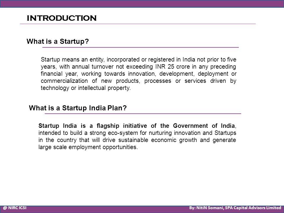SME Listing Presented by : NitiN Somani Company Secretary SPA