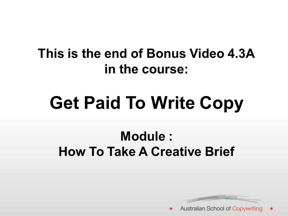 This is Bonus Video 4.3A in the course: Get Paid To Write Copy ...