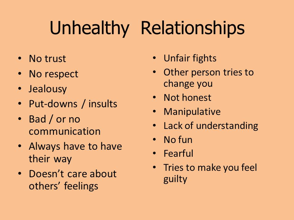 Of unhealthy qualities relationship an 8 Characteristics