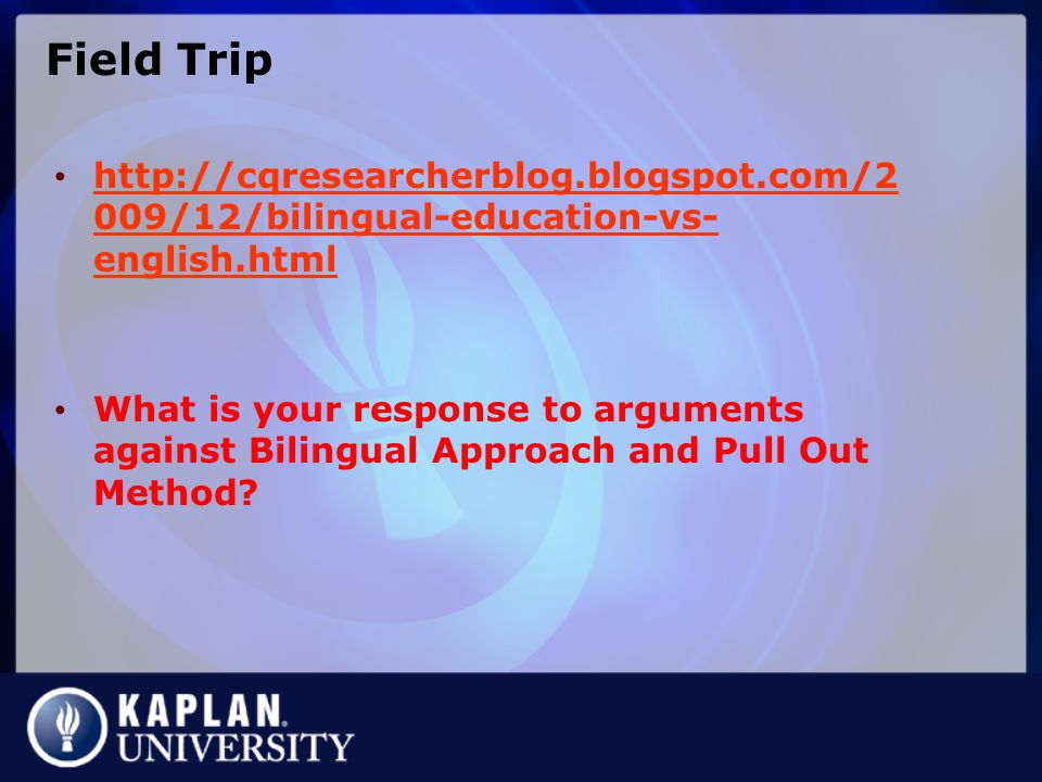 arguments for and against bilingual education