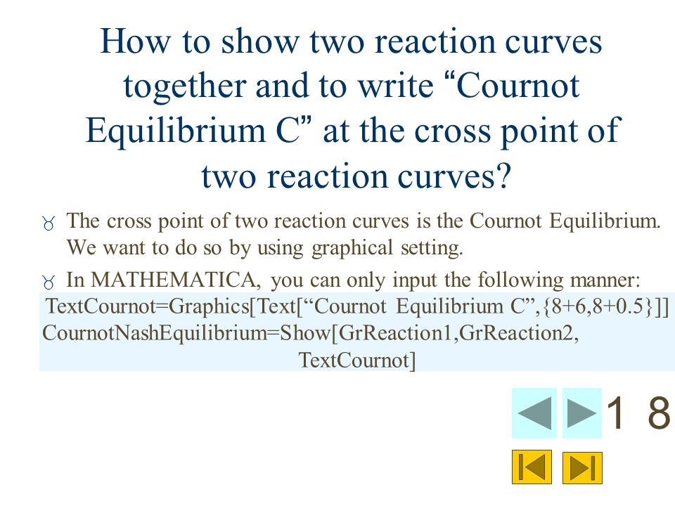 Looking at the Cournot Equilibrium by using the fully