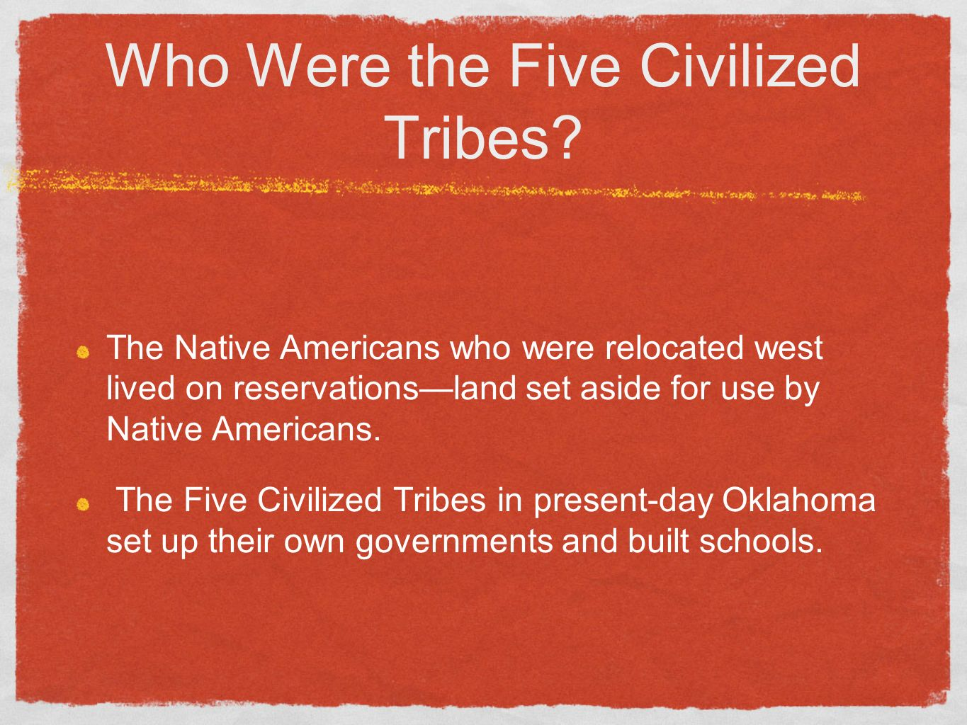 Who Were The Five Civilized Tribes