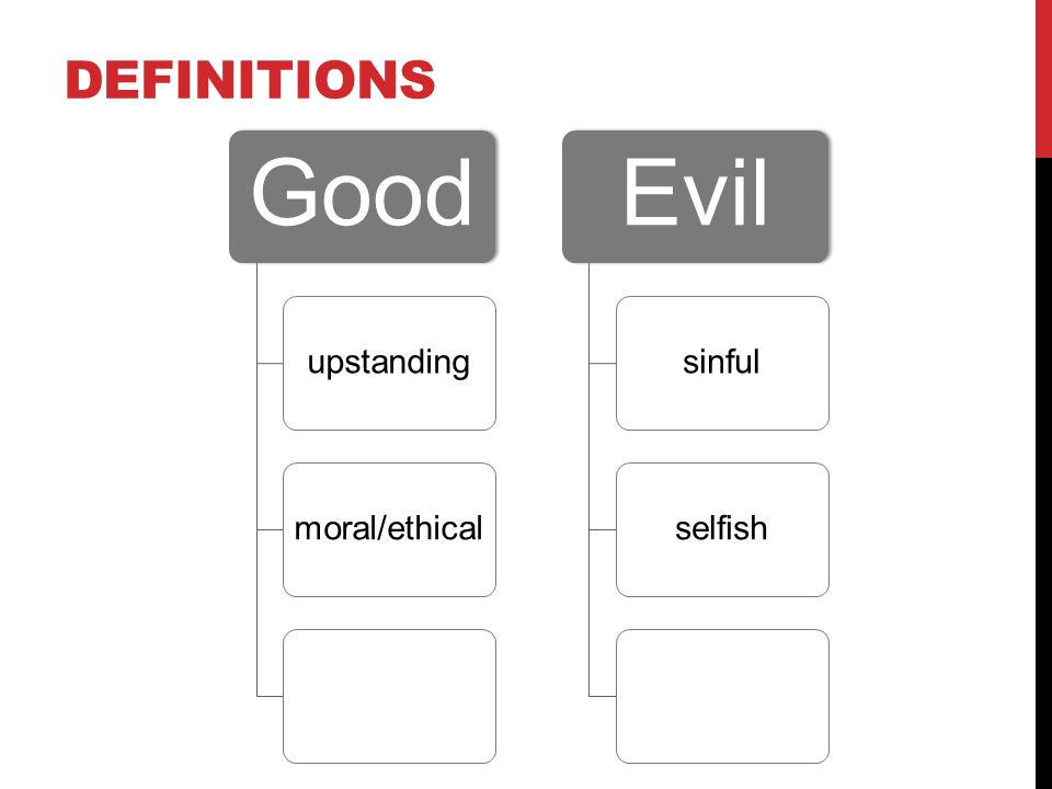 nature of good and evil