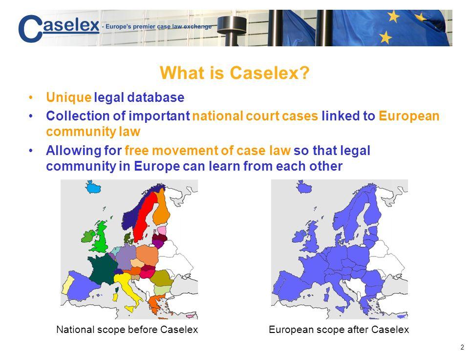 Caselex The battle for cases Marc de Vries Caselex San