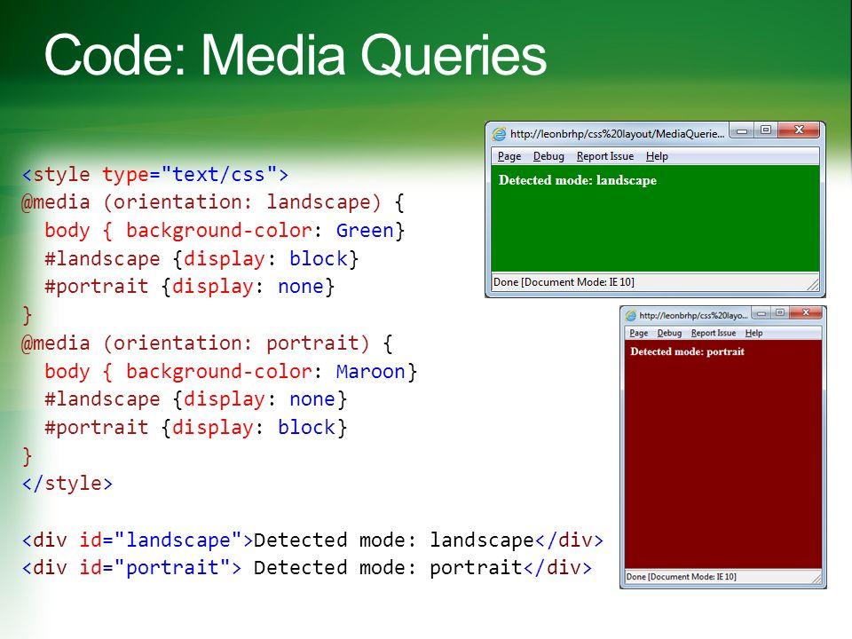 Media Queries  CSS3 Grid  CSS3 Flexbox  CSS3 Multi