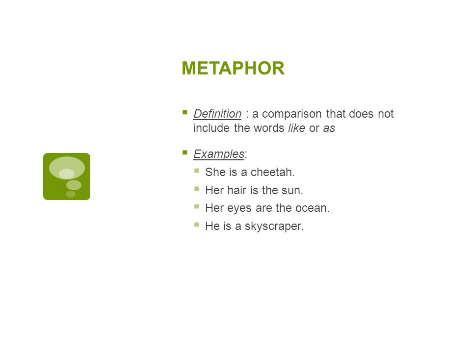 FIGURATIVE LANGUAGE Similes, metaphors, and more  - ppt download