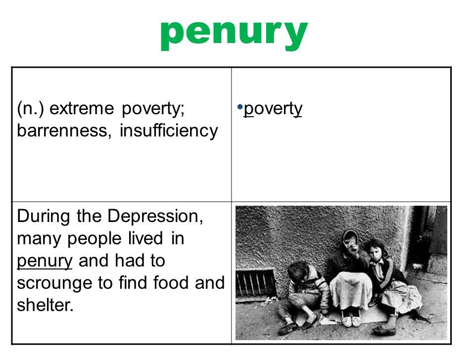 penury in a sentence