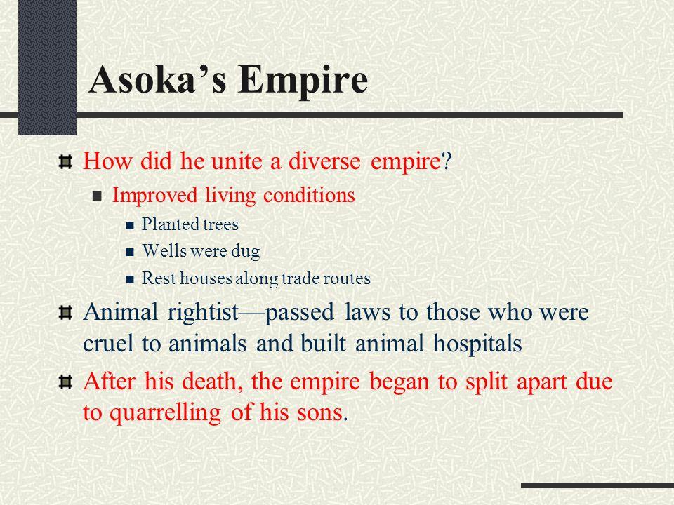 how did asoka unify the mauryan empire