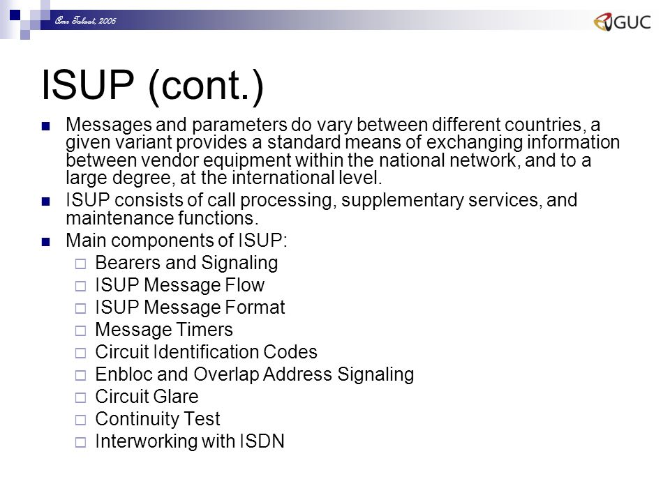 Signaling & Network Control Dr  Eng  Amr T  Abdel-Hamid NETW 704