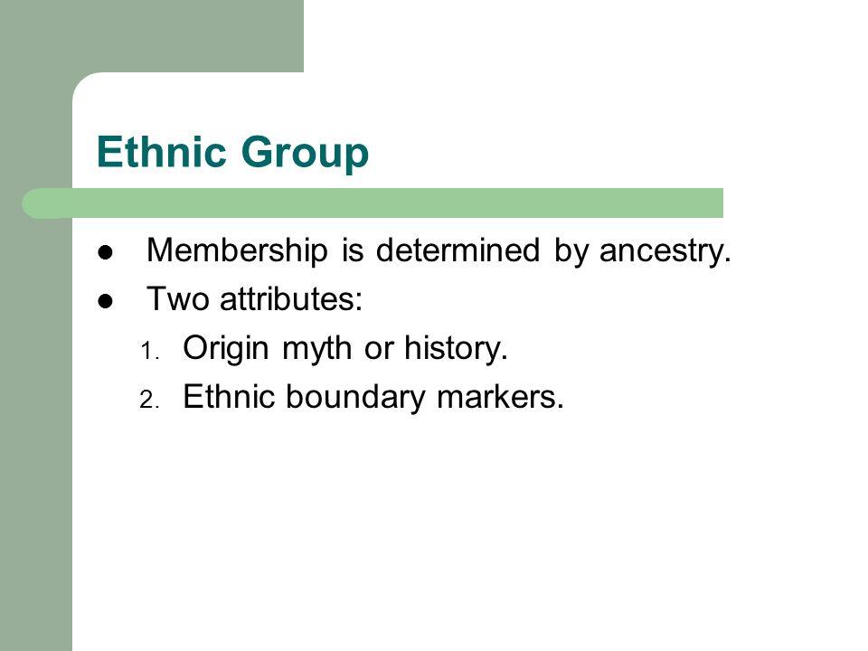 ethnic boundary markers