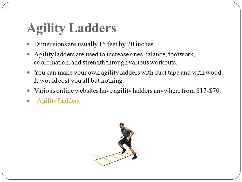 Home Circuit Gym Joshua Hudson Tech and Asses. Agility Ladders ...