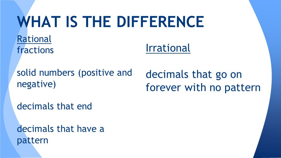 Warm Up Classify The Following As Rational Or Irrational 1 2
