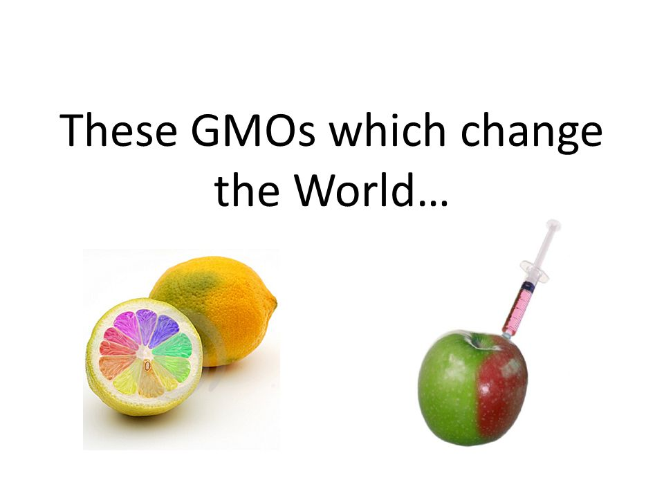 These GMOs which change the World…  1  Definition Synonym