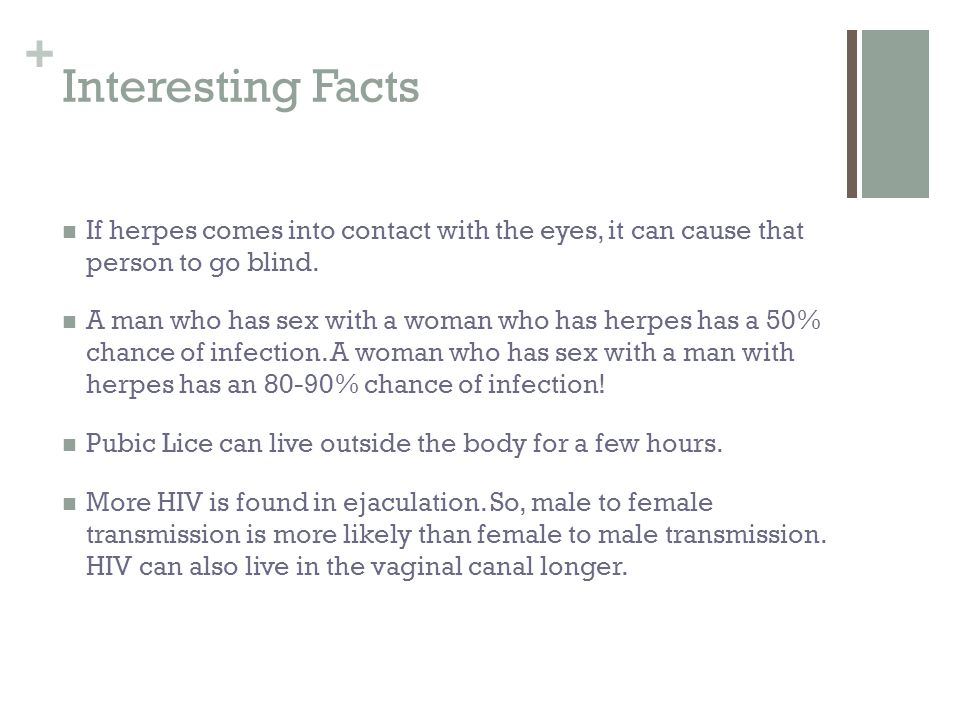 Interesting facts about sexually transmitted infections