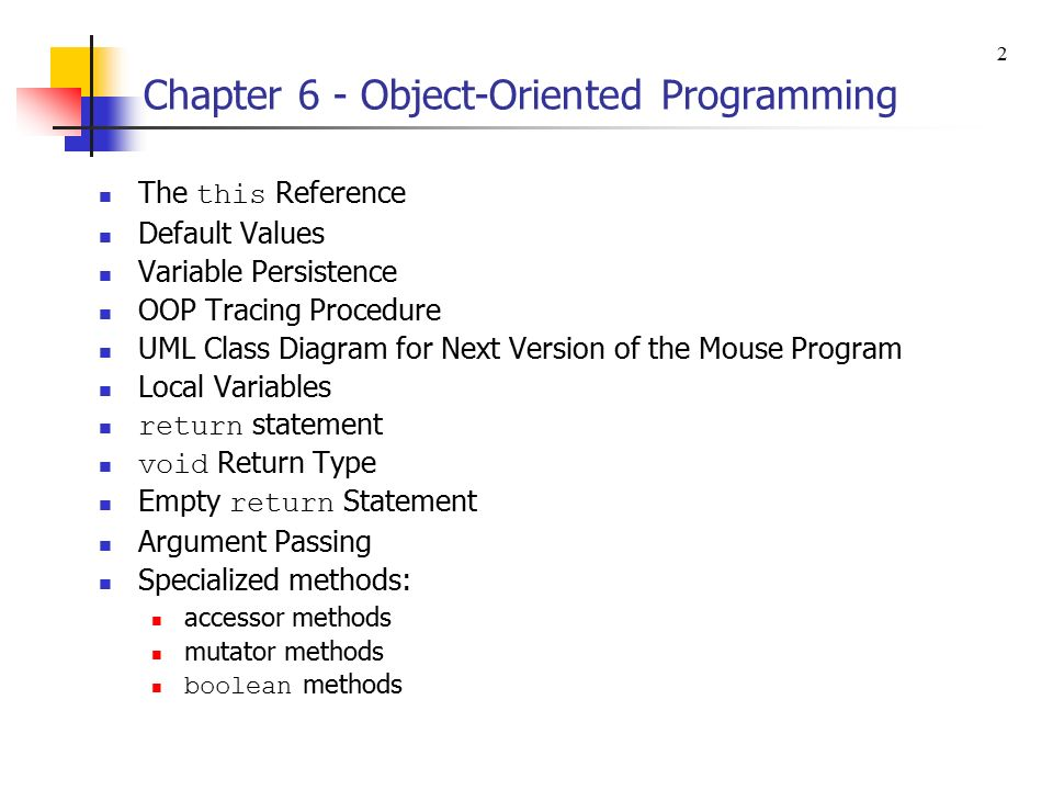 1 chapter 6 object oriented programming object oriented 2 1 ccuart Gallery