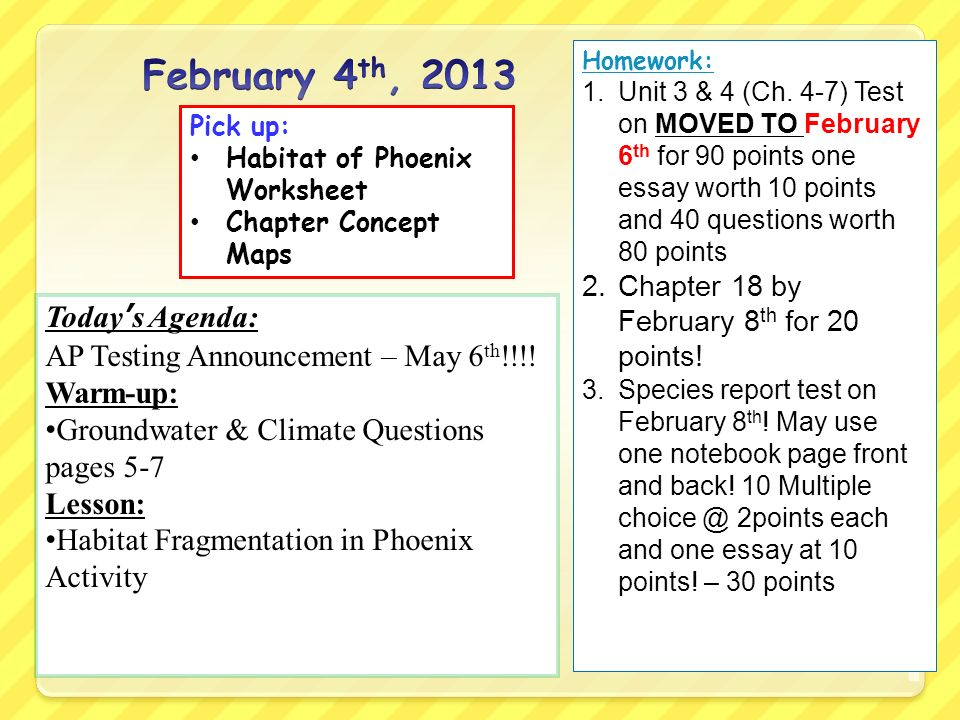 Today's Agenda Ap Testing Announcement May 6 Th Warmup. Worksheet. Worksheet 2 Groundwater Vocabulary Quiz At Clickcart.co