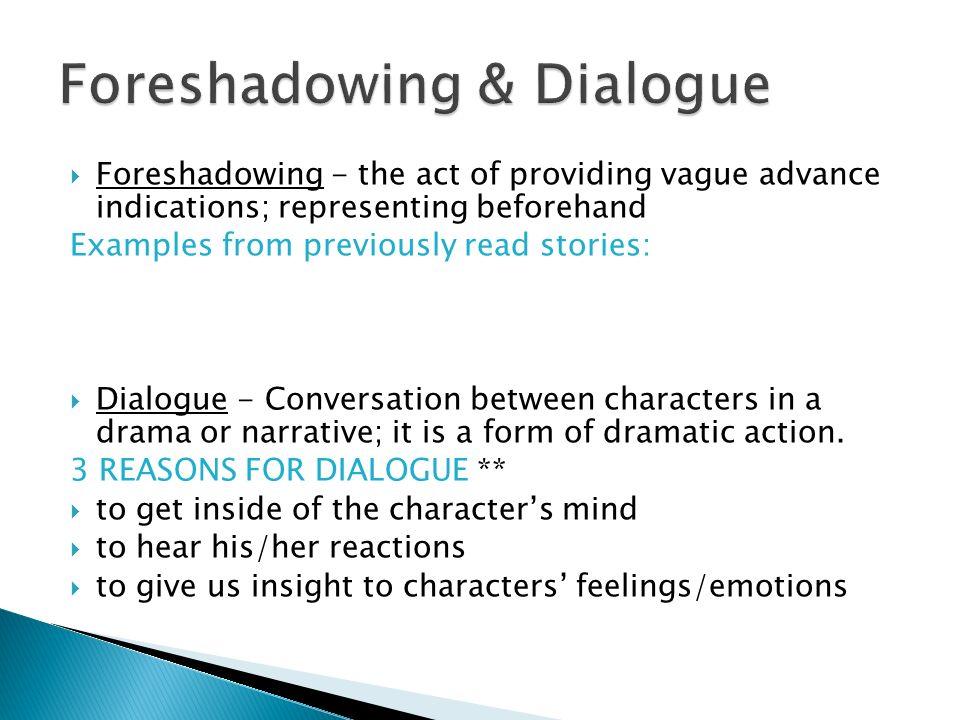 dramatic dialogue examples