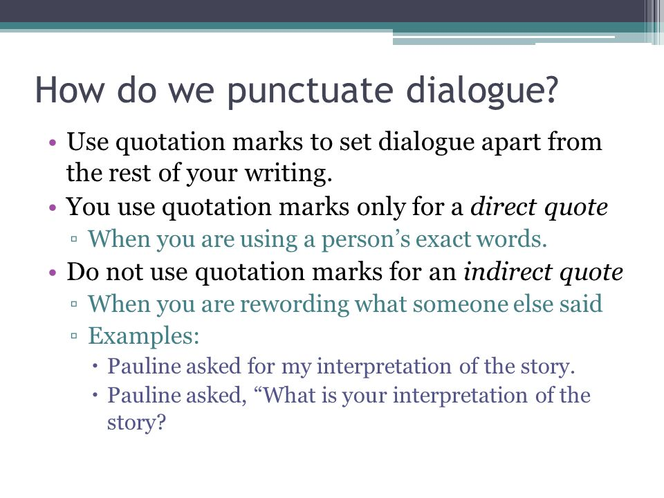 how to quote dialogue