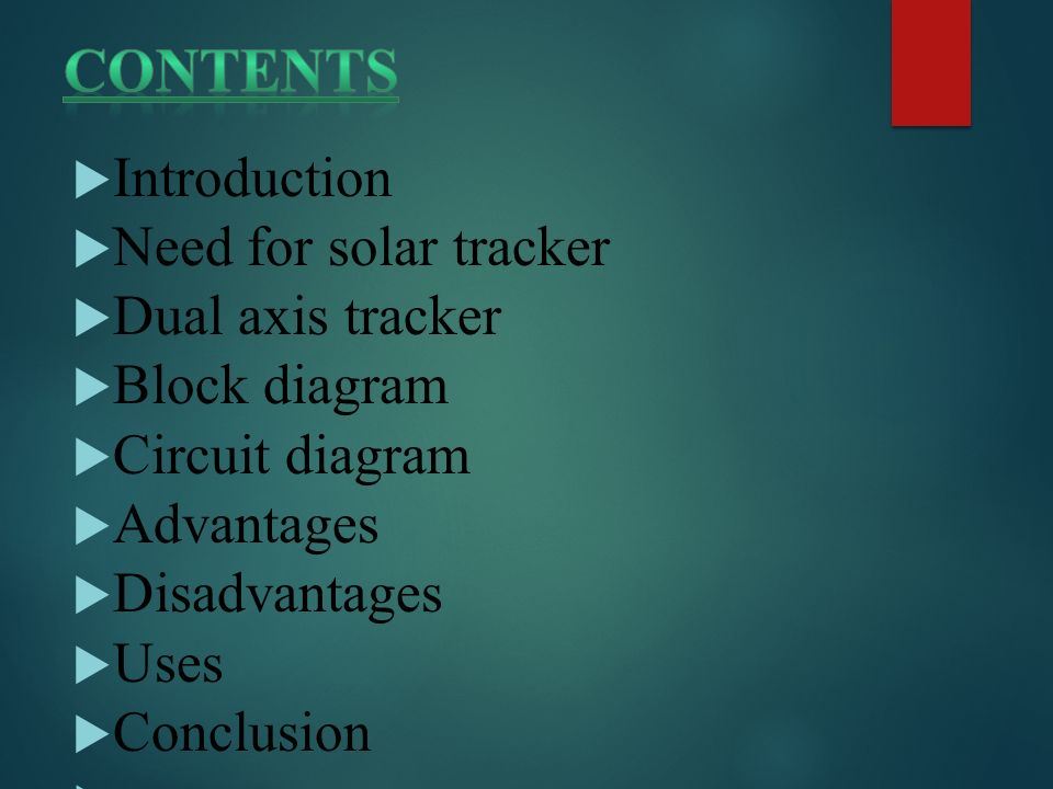 Solar Tracking System.  Introduction  Need for solar ... on