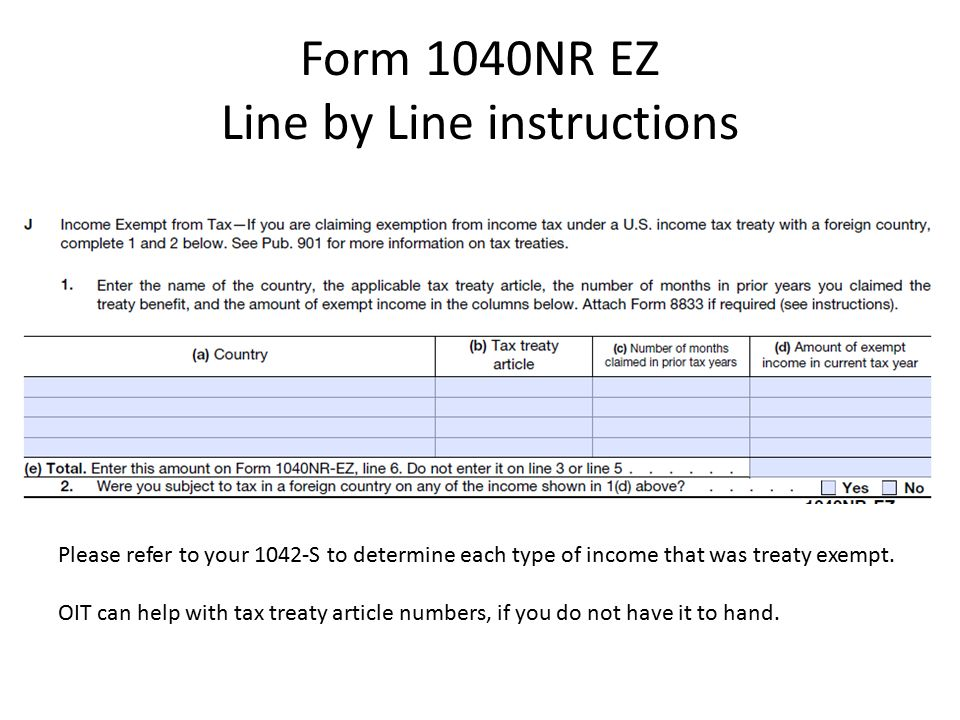 1040NR EZ Filing Your 2015 Federal Tax Return  1040NR EZ