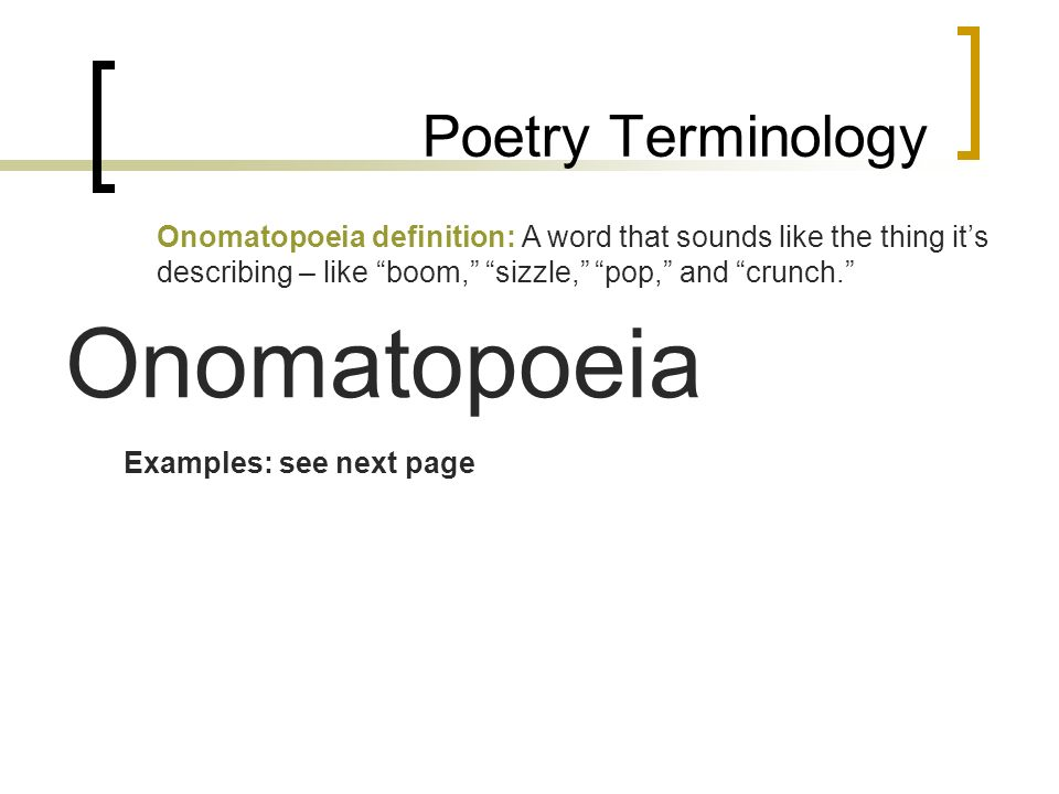 Onomatopoeia Poem Examples Gallery Example Cover Letter For Resume